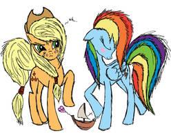 Rainbow Dash and Applejack - A Subtle Hint