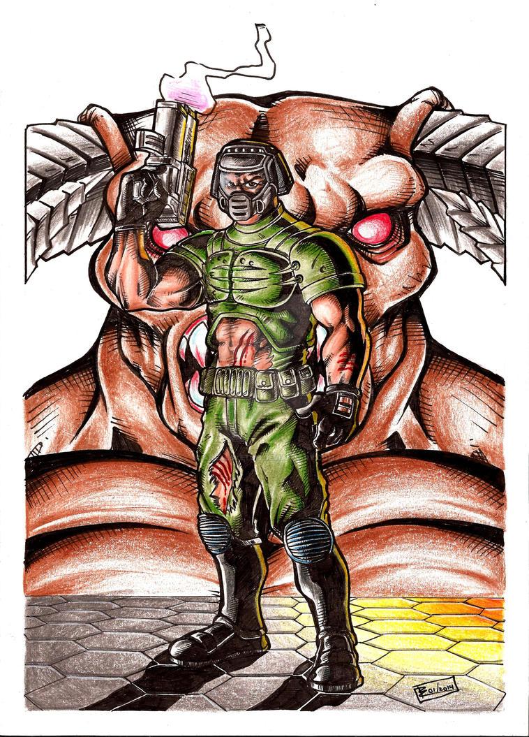 Doom Guy by Arealsketch