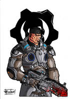 Marcus Fenix (Coloured) by Arealsketch