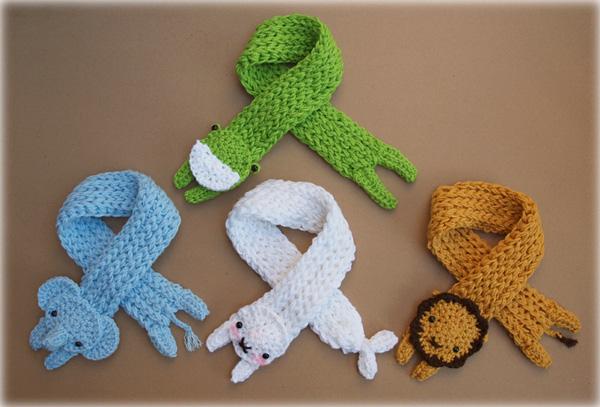 Baby Longbottom Animal Scarves by bobbin4apples