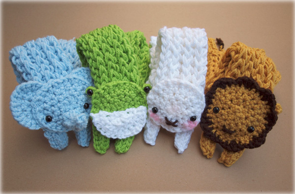Baby Longbottom Animal Scarves by bobbin4apples