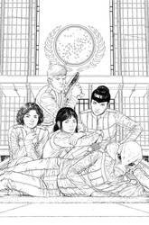 Starfleet Academy #5 cover inks by StephenThompson