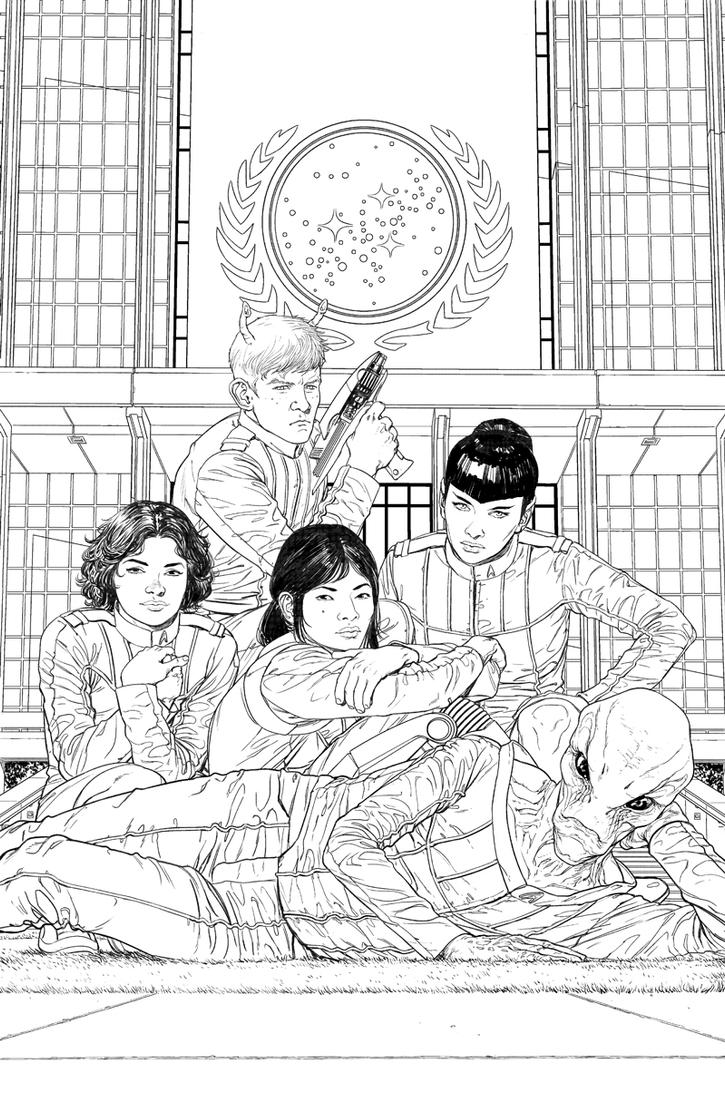 Starfleet Academy #5 cover inks by StephenThompson