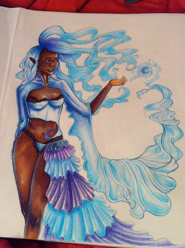 Water Goddess by NikKiDWolF