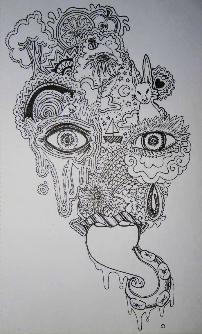 Psychedelic abstract sketch by lacrimosa angelus