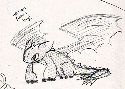 Toothless Sketch 2 by XeroPhantasy