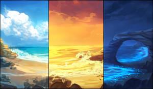Coastal Background Pack