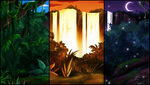 Jungle Waterfall Background Pack by AlphaStryx