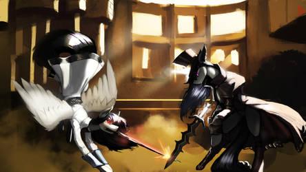 Kasmay Vanguard vs. Zeller Nightshade by NSilverDraws