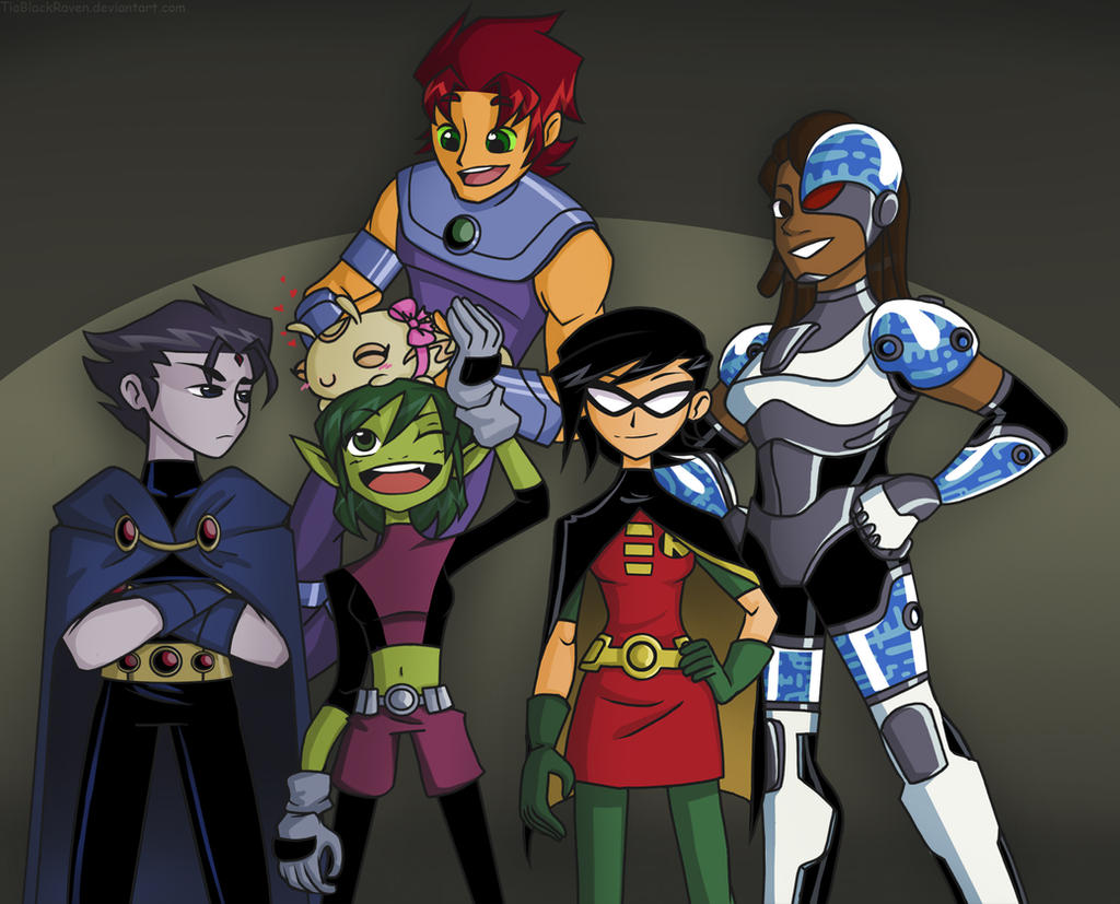 Teen Titans genderbend 2 by TiaBlackRaven