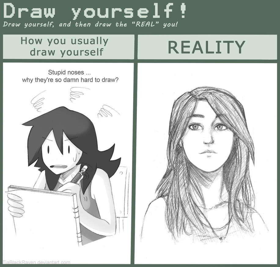 Meme Draw Yourself By TiaBlackRaven On DeviantArt - Hairstyle drawing meme