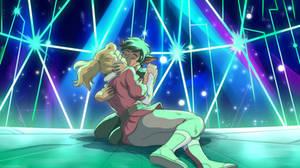 She Ra Ghibli Style Catradora kiss
