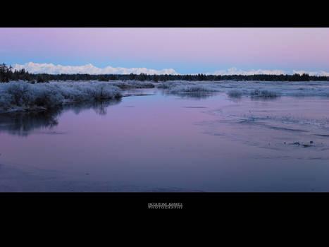 Winter Sunset, Tawah Creek