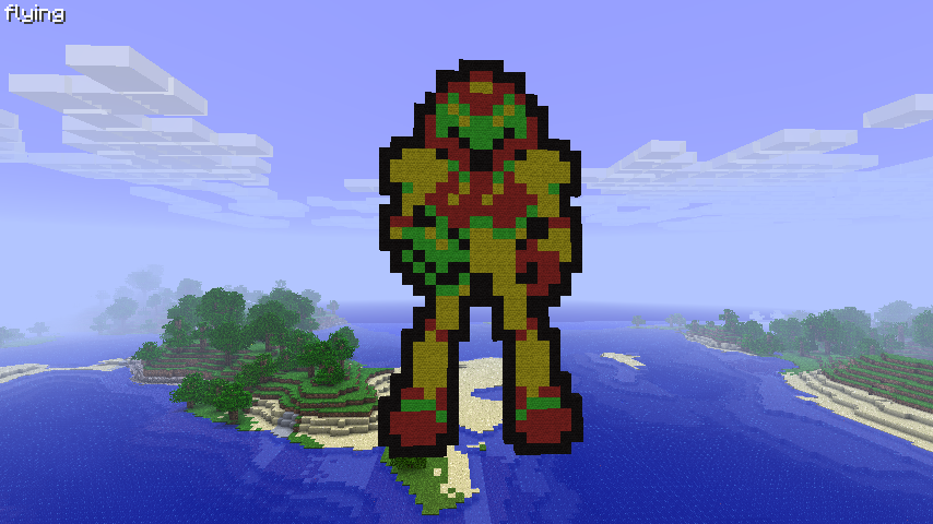 Minecraft Samus Pixel Art by LarpLoser