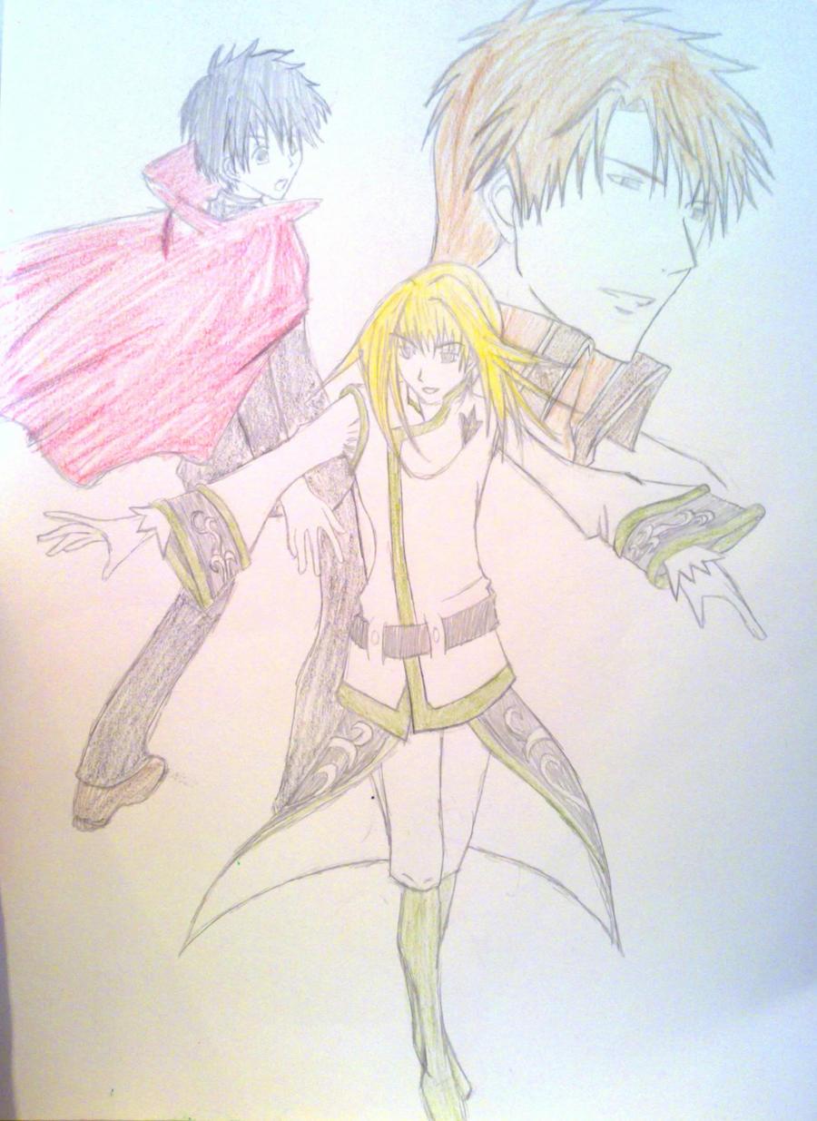 Odd Trio Sketch by AMMEX
