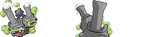 Galarian Weezing 64x64 DS Style Sprite (WIP) by French-Cyndaquil