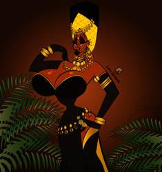 Angelique as the Golden Queen