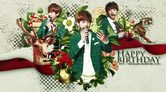 Wallpaper - Hpbd Park Chanyeol - 27/11 by eringuyen