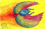 Rainbow Winged Scarab