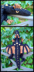 Steampunk Black Dragon Plushy by sunhawk