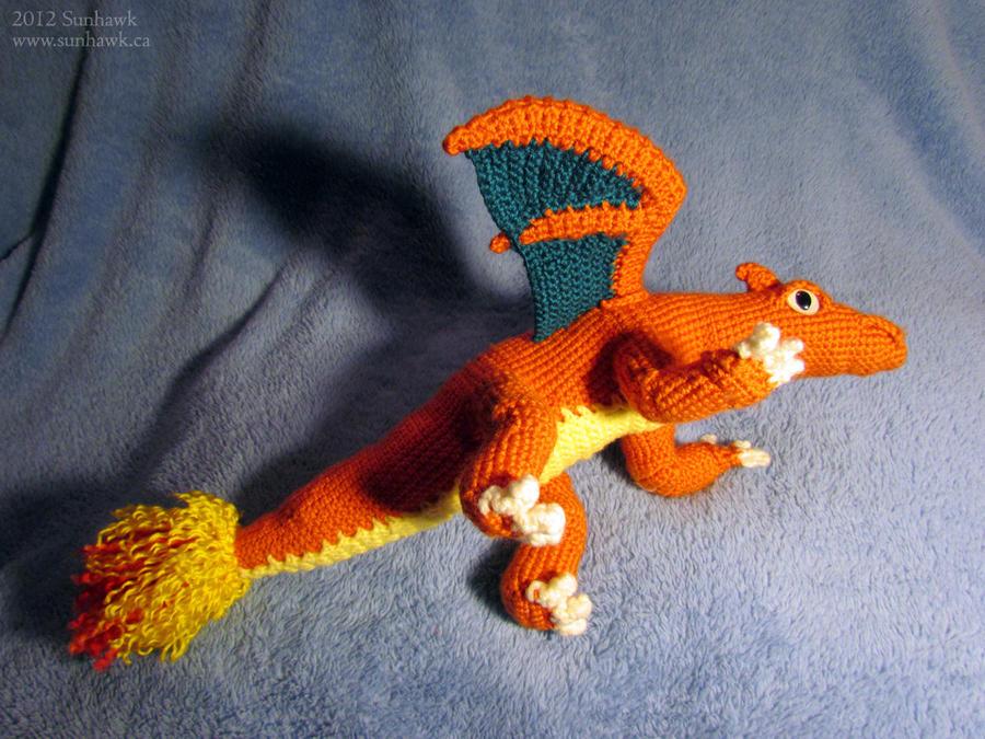 Charizard Dragon Plushy - side view by sunhawk