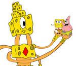 Spongebob and Patrick meet Loofus by josias0303