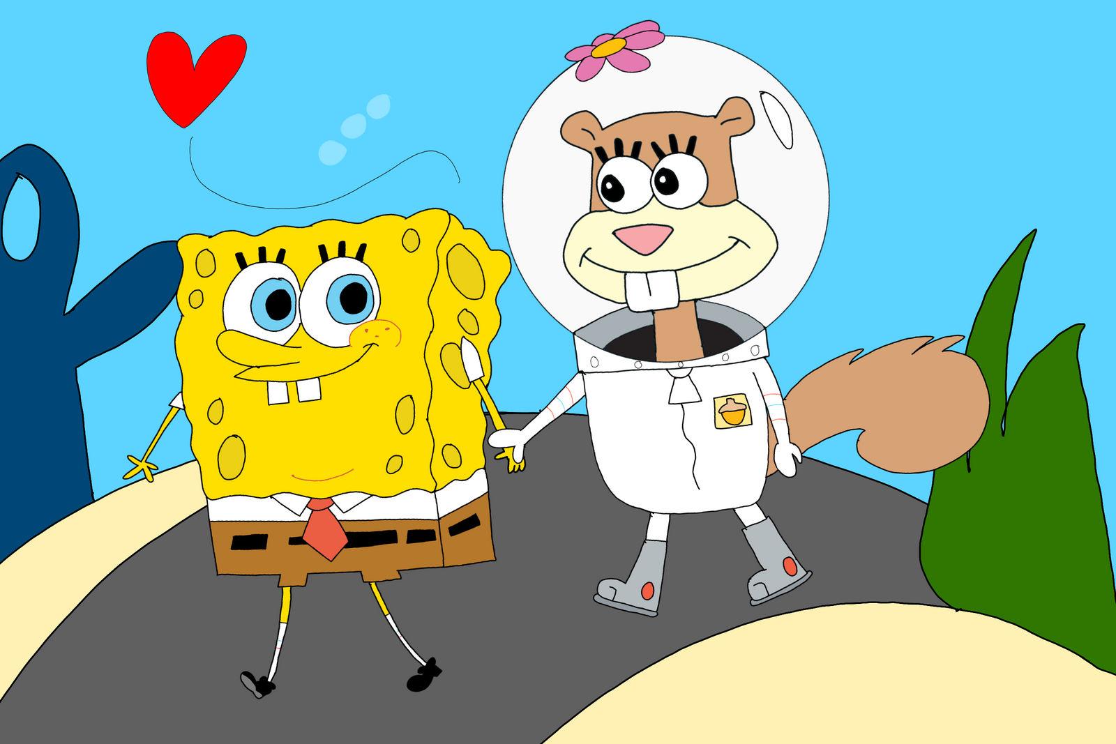 And sandy spongebob How SpongeBob