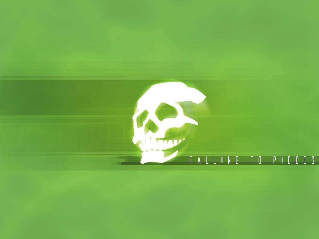 skullsticker green