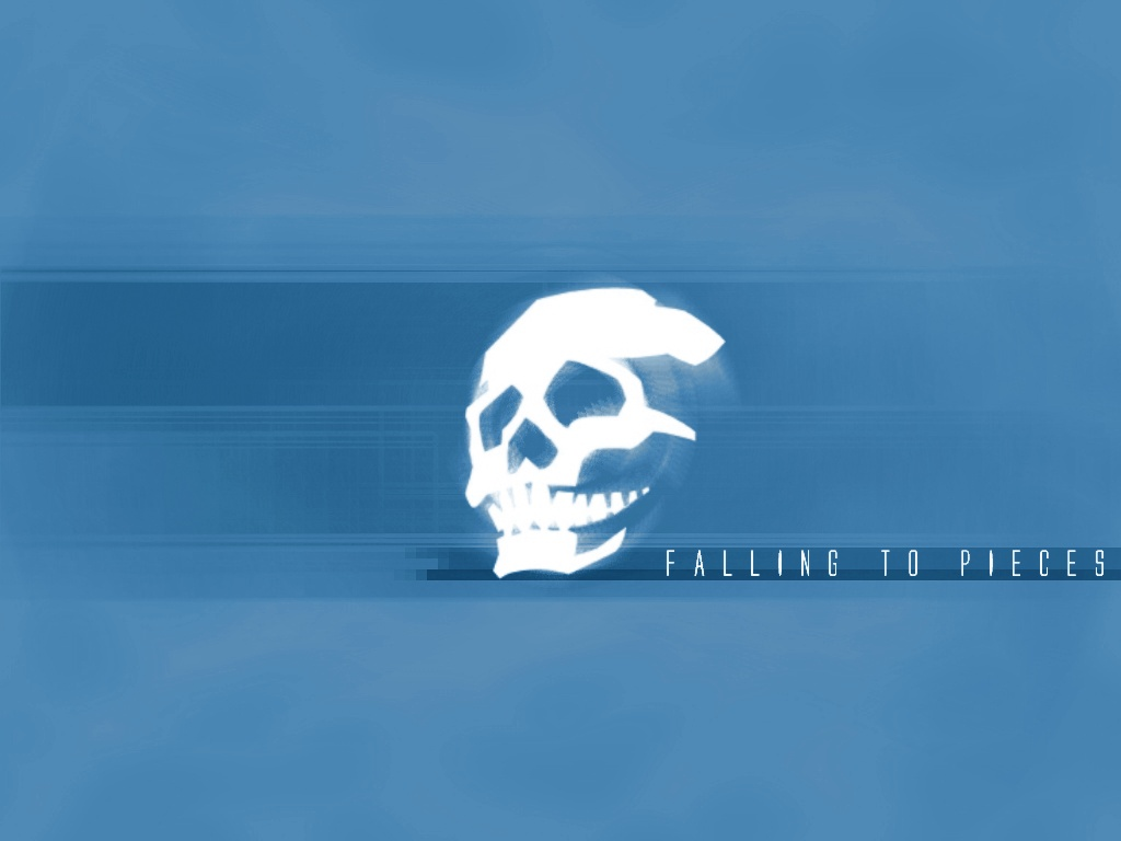 skullsticker blue by 10r