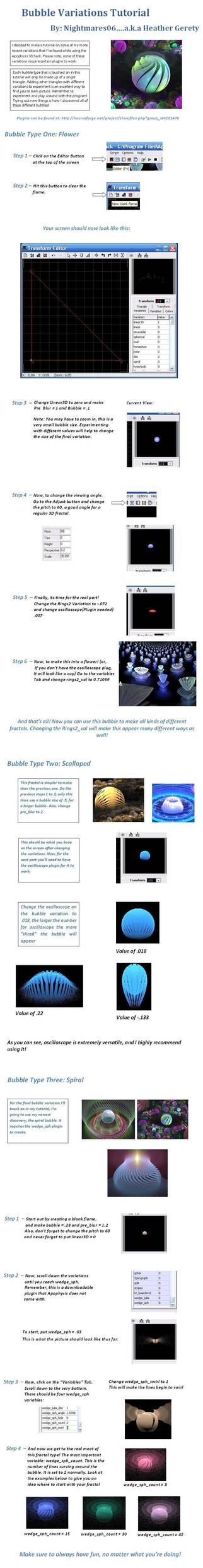 Bubble Variation Tutorial