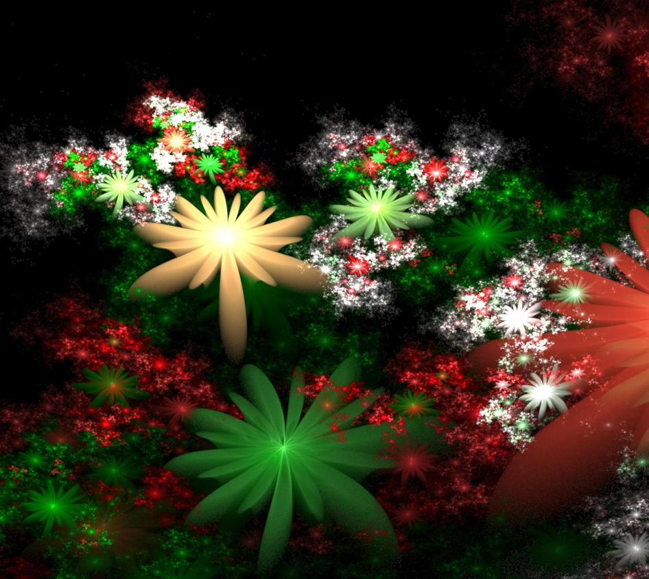 Christmas Flowers by nightmares06 on DeviantArt