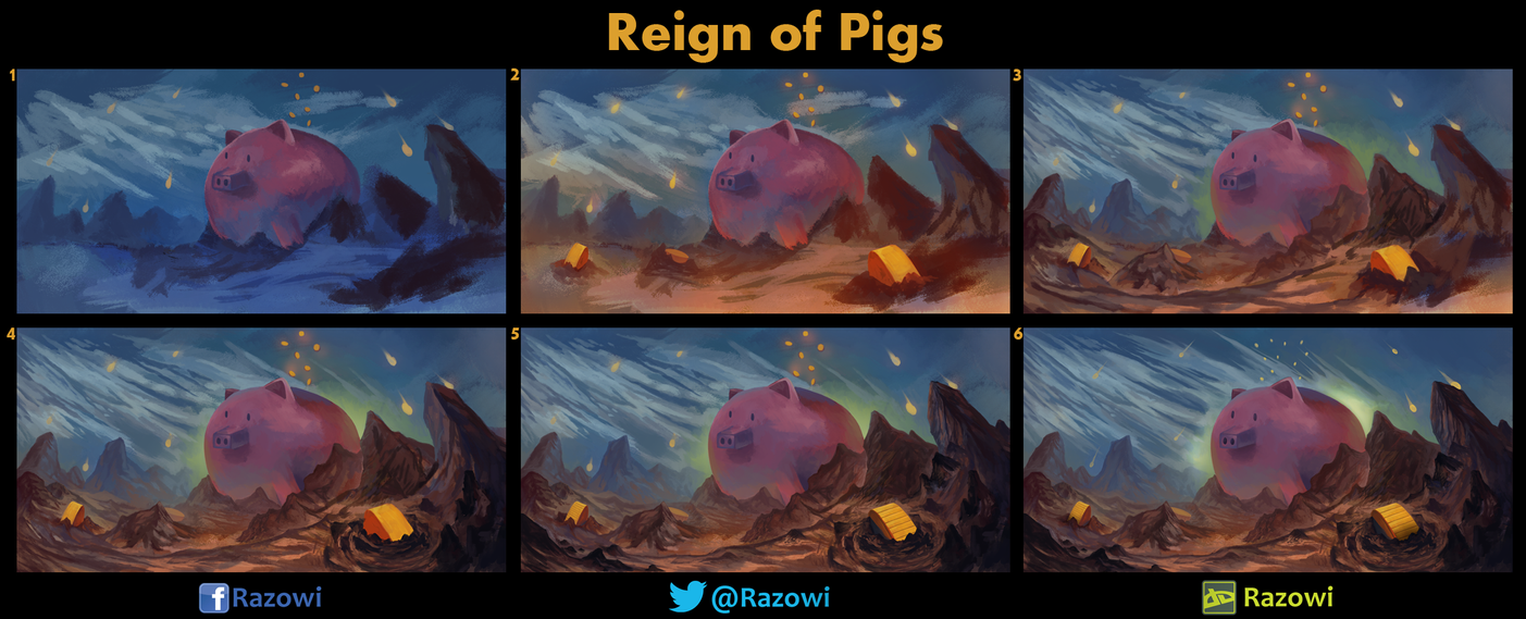 Reign of Pigs - WIP by Razowi