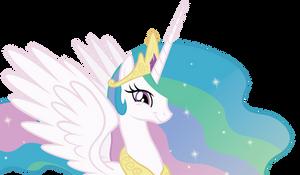 Princess Celestia's amused smile.