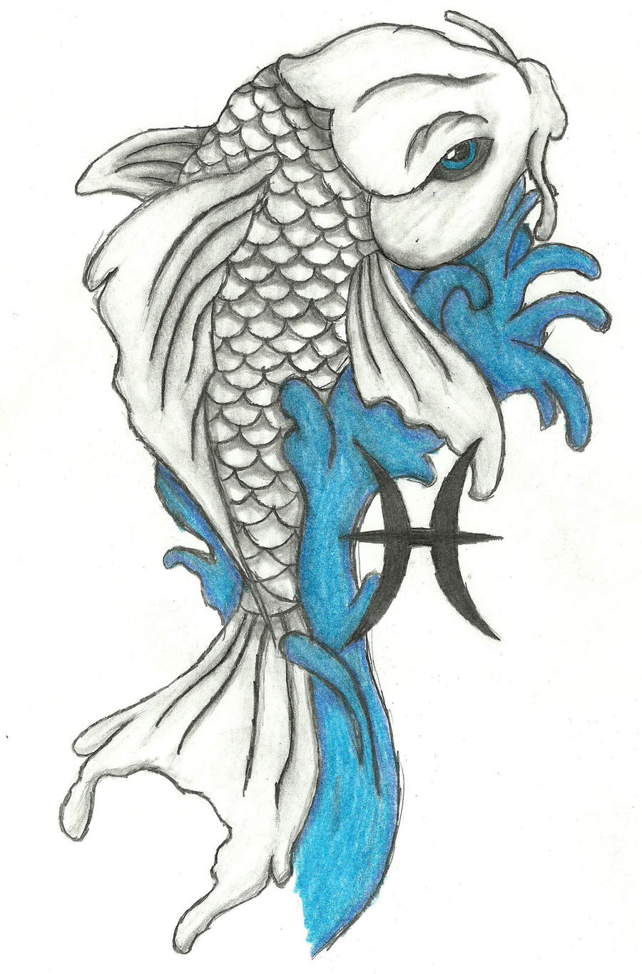 Koi fish by thomasmct on deviantart for Koi fish drawings