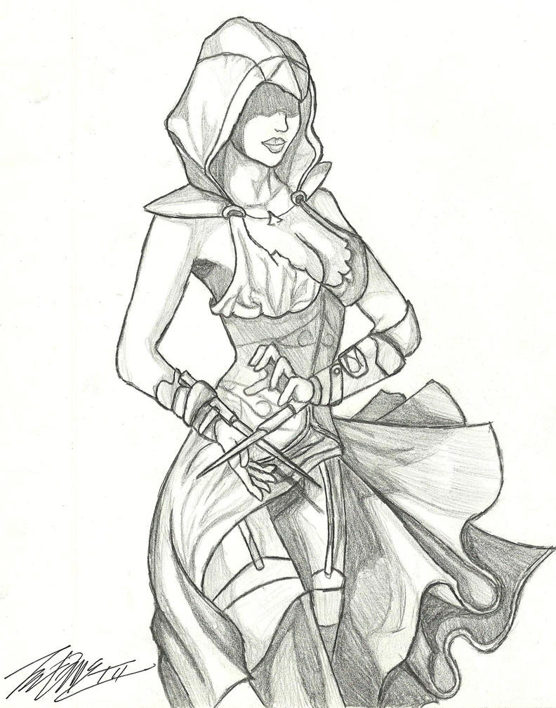 Assassin girl by ThomasMCT on DeviantArt
