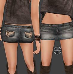 AngelRED Couture - Mesh Crush Mini Skirt