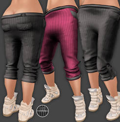 AngelRED Couture - Mesh Jessie Capris
