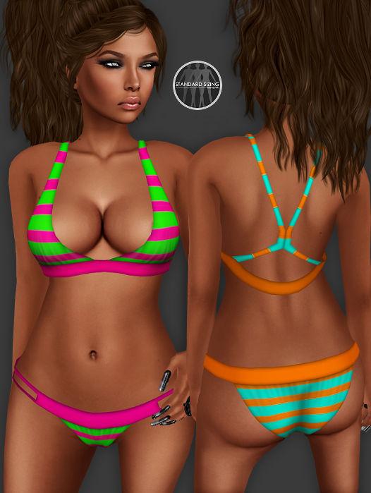 AngelRED Couture - Mesh Raven Bikini