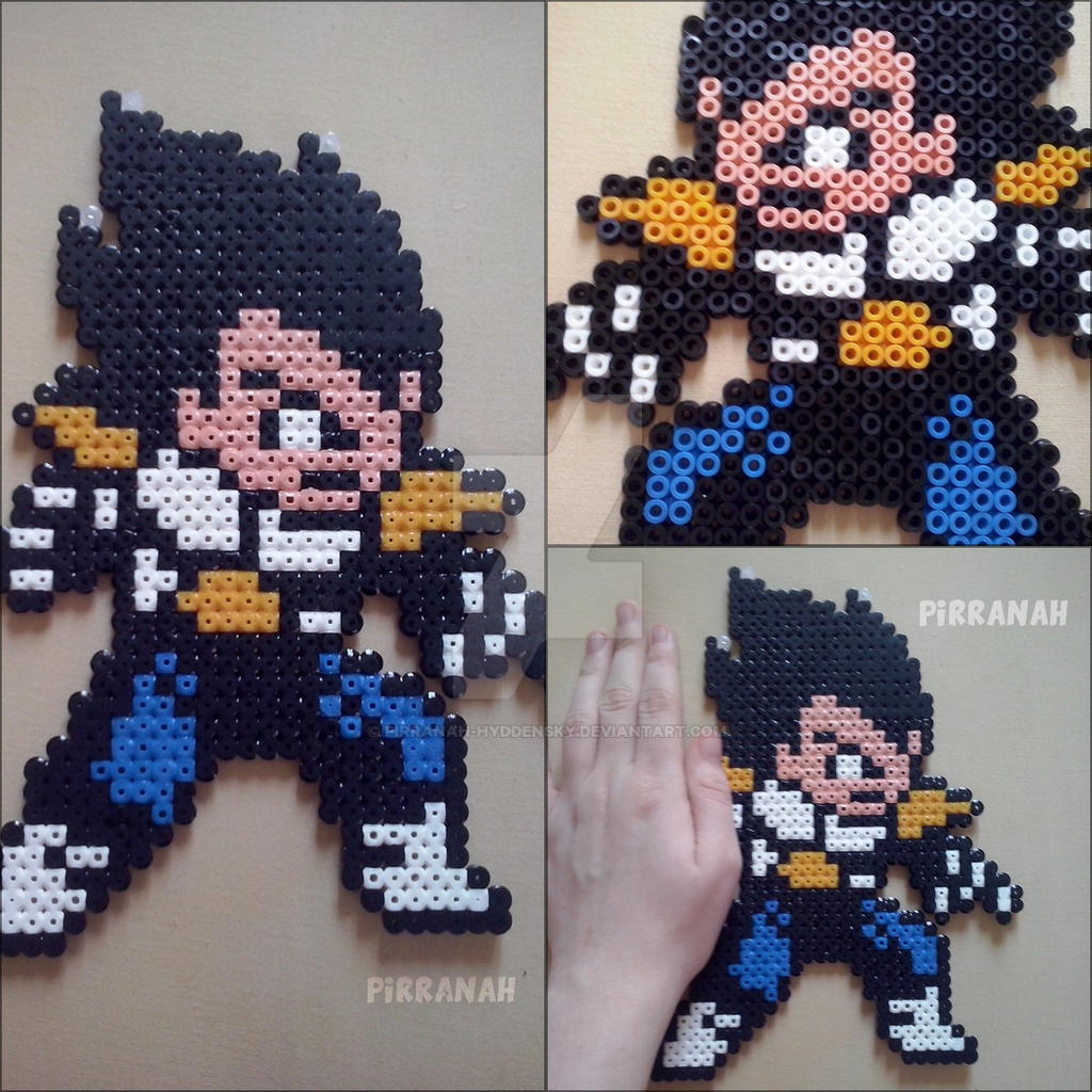 Vegeta Dragon Ball Z perler by Pirranah-HyddenSky