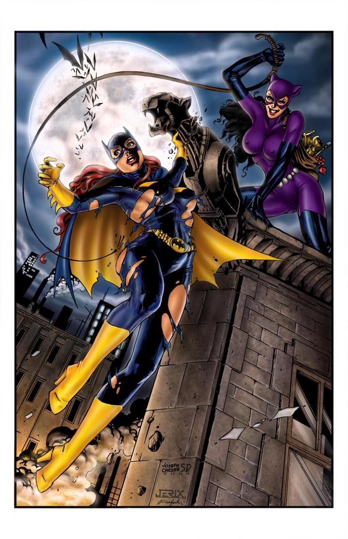 Batgirl Vs Catwoman - By Jsd By Jerix On Deviantart-7186