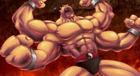 GORO - Mortal Kombat 4 by GONZZO