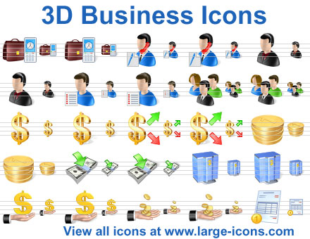 3D Business Icons by richardkingempire