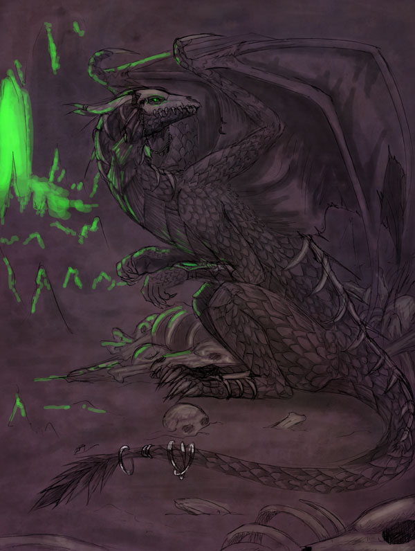 Necromancer Dragon by raerae