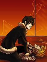 Izaya and Shizuo by raerae