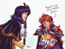 Xelloss and Lina by raerae