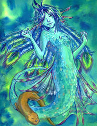 Peacock Mermaid