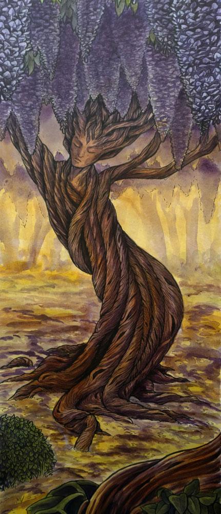 Wisteria Dryad by raerae