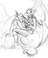 Dragon Bard by raerae