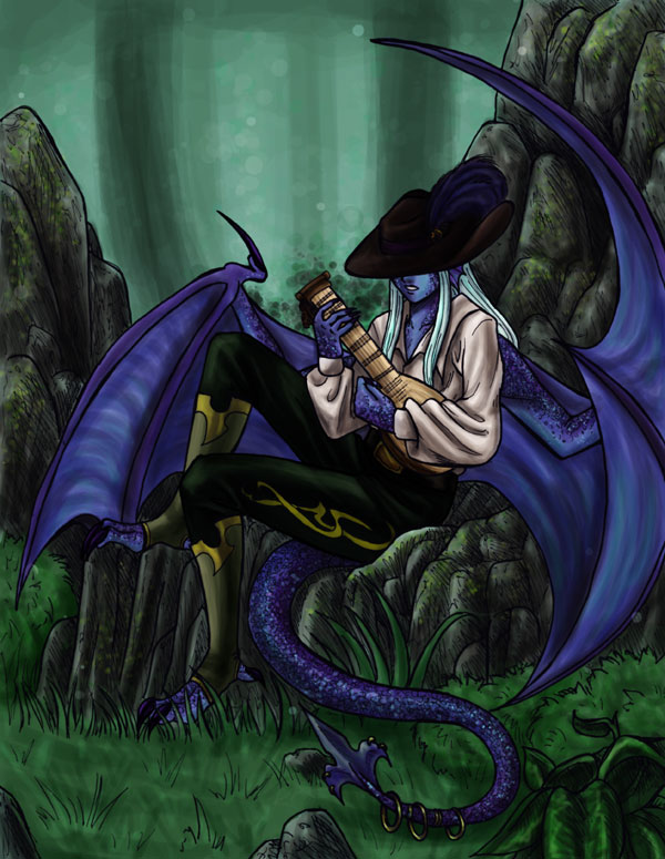 The Dragon Bard by raerae