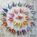 27 Origami Cranes by Artcrown